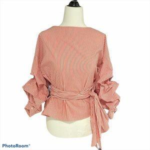 ZARA WOMAN Wrap Blouse NWT Size Medium